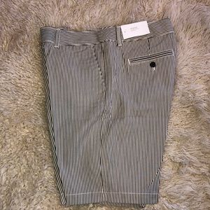 Ann Taylor Loft Bermuda Gray Striped Shorts NWT
